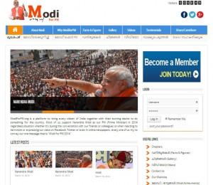 Modi for PM - Kerala Website